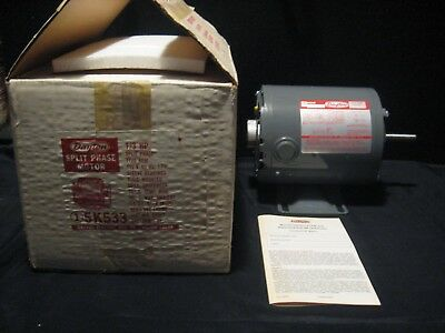 Genuine Dayton 13 Split Phase Motor 1725 Rpm 115v 60hz 1-ph 5k533 New Old Stock