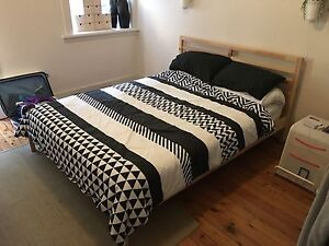 Queen size bed + bedside table + laundry basket Marrickville Marrickville Area Preview