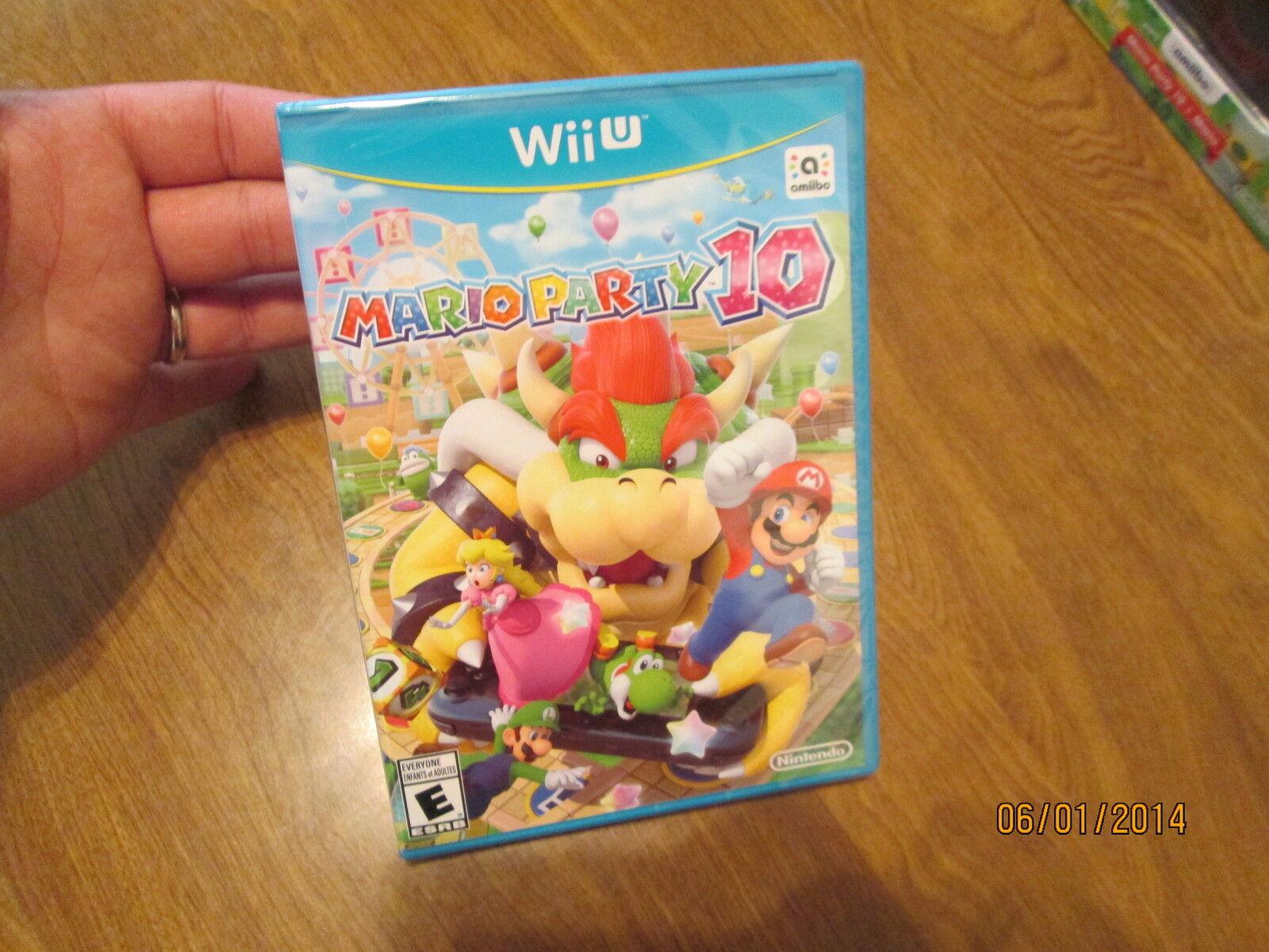 Mario Party 10 Nintendo Wii U FIRST PRINT BLUE CASE