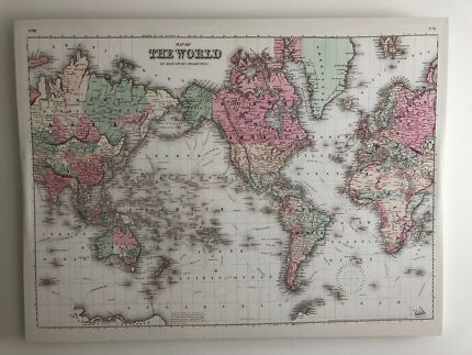 World map canvas art other home decor gumtree australia gold world map canvas gumiabroncs Gallery