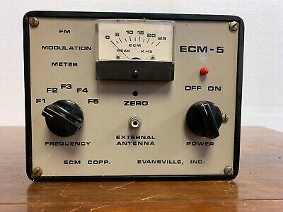 Vintage Ecm-5 Fm Modulation Meter