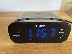 Timex T331 Bluetooth Dual Alarm Clock Radio w/Digital Tuning AM/FM