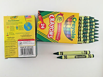 Green Crayola Crayon (48 Crayola Crayons **  GREEN ** Bulk Lot 2 Boxes, 24 Pc per box  (16 24)
