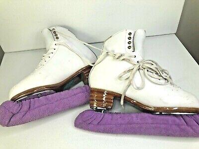 JACKSON COMPETITOR Womens 6D White ASPIRE XP / ULTIMA 9.5 Blade Ice Skates -