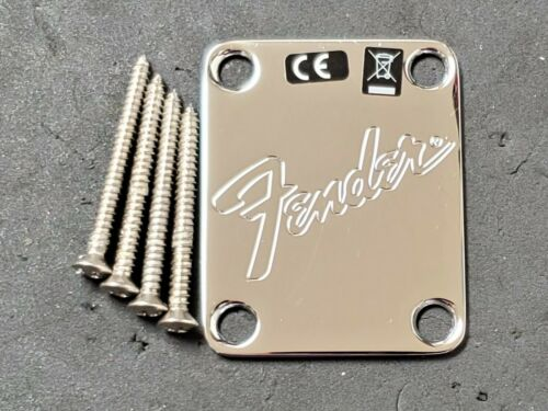2019 Fender American Performer Strat Tele NECK PLATE Transition Logo USA Guitar