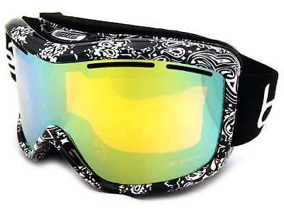 BOLLE Ski Goggles MONARCH women's Black Bandana / Citrus Gold Mirror (Bolle Womens Ski Goggles)