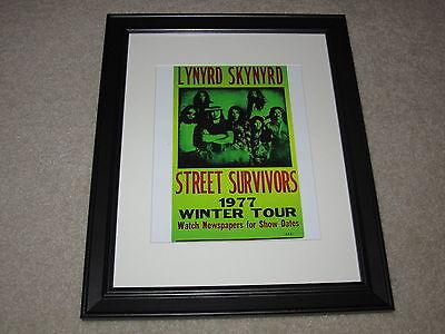 Framed Lynyrd Skynyrd Concert Mini Poster Street Survivors 1977, 14