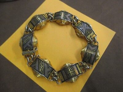 "DAMASCENE pin, bolo, bracelet brass ""STAR of DAVID"" Damascus LOT COLLECTION"