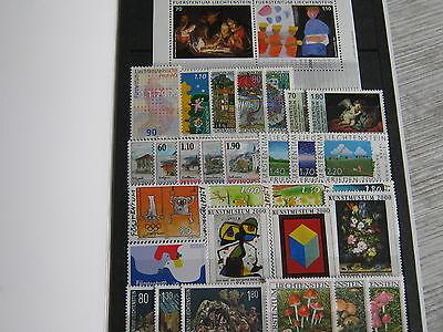 Briefmarken: - Fürstentum Liechtenstein – Komplette Jahresausgabe 2000