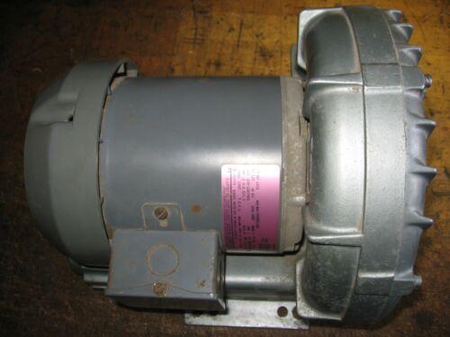 Gast Regenair Regenerative Ring Blower/Vacuum 208/230/460/50/60 1/2 Hp 3-Phase