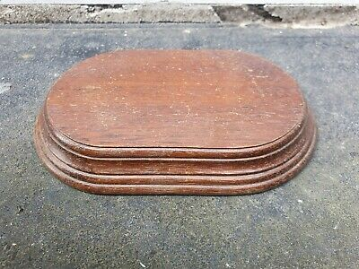 VINTAGE OVAL WOOD VASE TROPHY BOWL FIGURE STAND 6