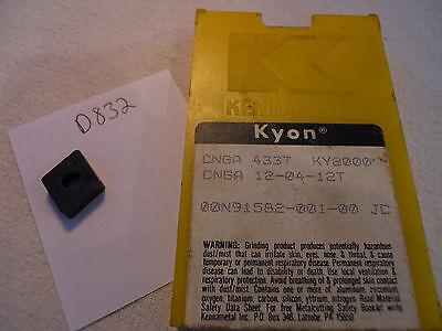 9 New Kennametal Cnga 433t Cermet Inserts. Grade Ky2000. D832