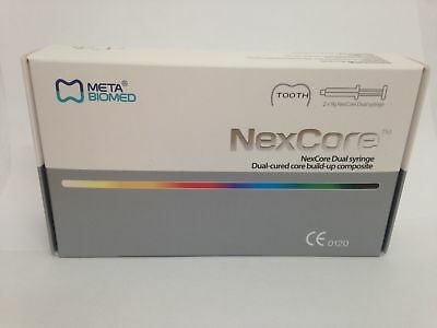 Dental Nex Core Dual Cured Build Up Composite Resin Cement 2pcs Meta Biomed