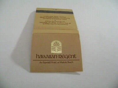 "1- Match Book, ""THE HAWAIIAN REGENT HOTEL"", Waikiki Beach, complete."