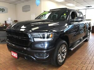 2019 Ram 1500 Sport Crew 4x4 V8 w/Leather, Sunroof, Navi