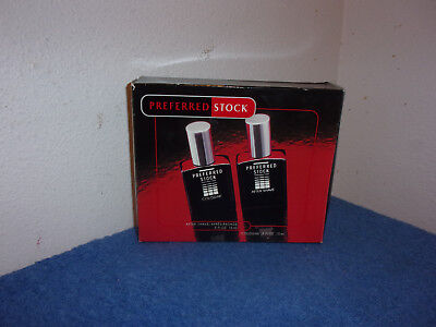 """NEW .""""PREFERRED STOCK """" COLOGNE % AFTER SHAVE GIFT SET  for MEN  by COTY"""