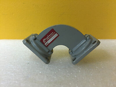 Microwave Associates Ma636 8.2 To 12.4 Ghz 1.7 L 90 H Bend Waveguide
