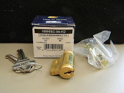 Ilco Grade 2 Knob Lever Deadbolt Cylinder Kit- Schlage Sc1 Keyway- Brass