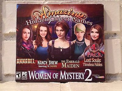 women of mystery --- 4-pack of hidden object adventure computer games --- new Mystery Adventure Game
