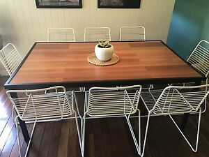 Modern Industrial Indoor/Outdoor 8 Seater Table Redland Bay Redland Area Preview