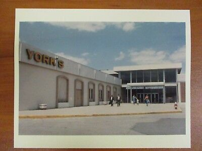 Vtg Glossy Press Photo Natick MA Mall Exterior York's Department Store (Natick Stores)