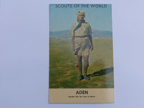 ADEN Unused Vintage SCOUTS OF THE WORLD Boy Scout in Uniform 1964 Post Card