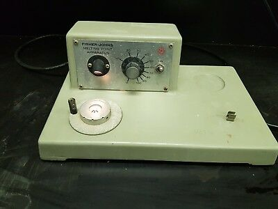 Melting Point Apparatus Fisher Johns