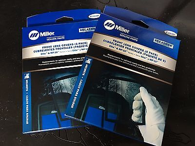 2 Pack Miller 216326 Outside Welding Lens Front Elite Mp-10 Clear 10 Lenses