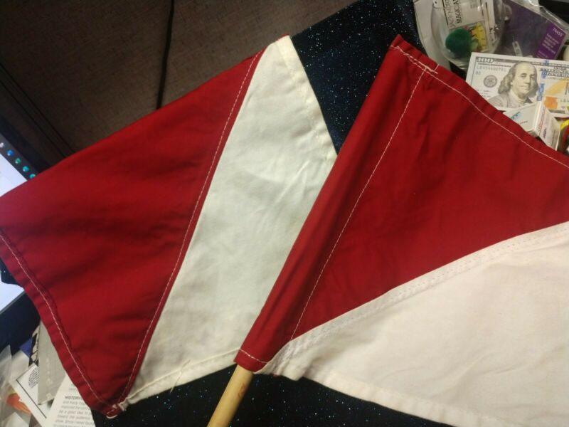 Vintage Signal Flags Boy Scouts Pair of Red & White Semaphore