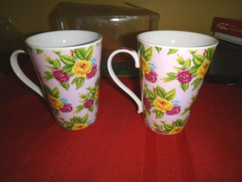 ROSES BALMORAL CASTLE  FINE PORCELAIN PAIR OF CUPS/MUGS *NEW*