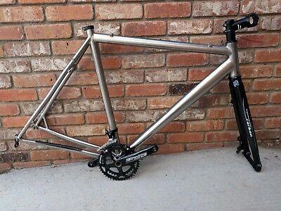 58cm 2014 Motobecane Phantom Pro Titanium Cyclocross Frame (disc) Carbon Fork