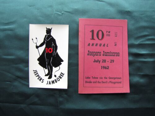 Vintage 1962 10th Annual Jeepers Jamboree Booklet and Decal