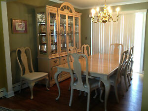 bernhardt dining room set | Bernhardt Dining Room Set Atrium Collection Table 8 Chairs ...