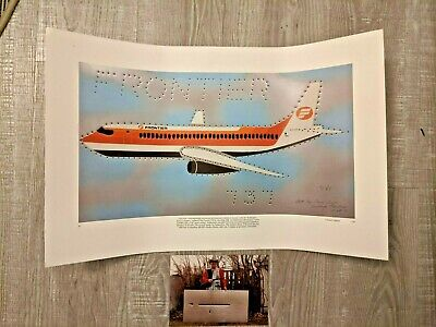 Tom Frye Frontier 737 Remington LTD Edition Poster 1980
