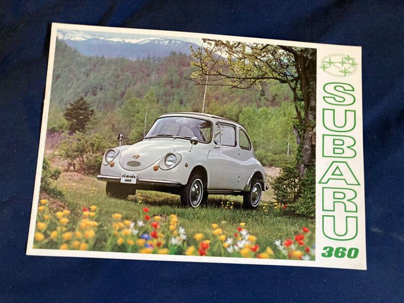 1969 Subaru 360 USA Market Color Brochure Catalog Prospekt
