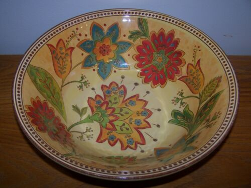 Cynthia Rowley Huge Melamine Bowl in a Tuscan style - Great for Outdoor Use