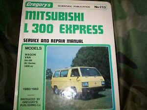 Mitsubishi L300 Express/ Starwagon workshop manual Flagstaff Hill Morphett Vale Area Preview