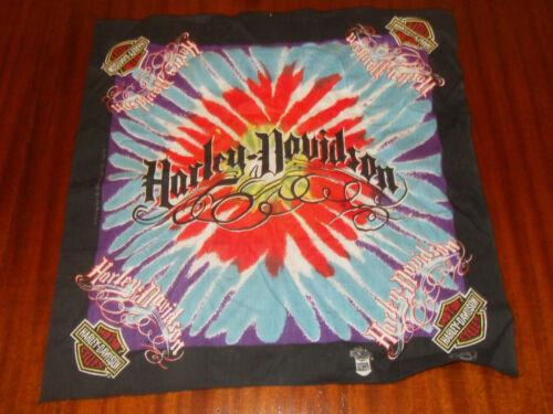 Vintage Harley Davidson Bandana - Tie Dye