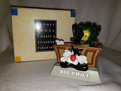 "Looney Tunes Sylvester and Tweety "" Big Shot"" Warner Brothers Store Figure 1996"