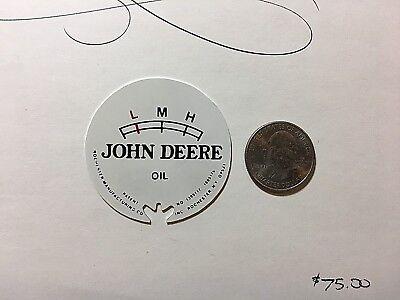 John Deere J D Oil Pressure Vintage Style Gauge White Face