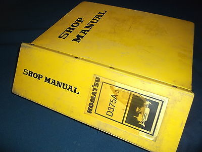 Komatsu D375a 3 Crawler Tractor Dozer Bulldozer Service Shop Repair Manual