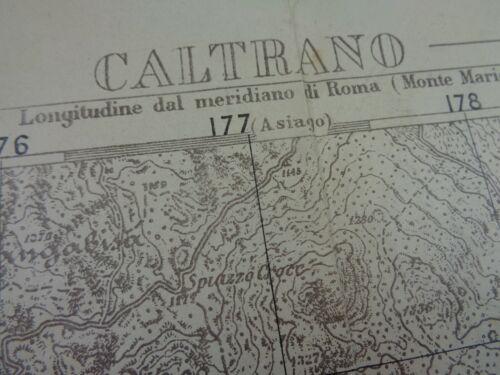 """WW1 (c1916) """"ASIAGO PLATEAU"""" (SETTE COMUNI) FRENCH / ITALIAN Map (B.E.F - ITALY)"""