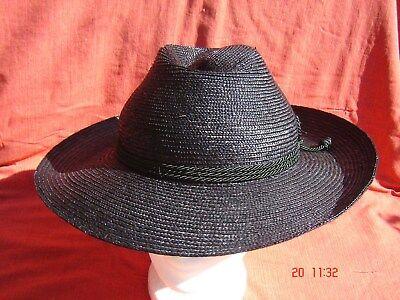 bayrischer Trachtenstrohhut schwarz Werdenfelser Form Strohborte genäht mit - Bayrischer Hut