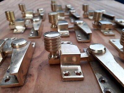 Vintage Retro Designer Solid Brass Sash Window lock Latch Catch sold singular 1