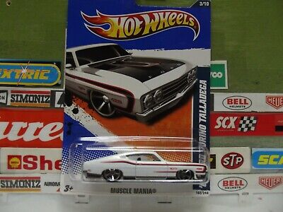 HOT WHEELS 1:64 WHITE '69 FORD TORINO TALLADEGA 3/10, 103/244, T9810.  (13)