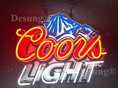 """New Coors Light Mountain Neon Sign 17""""x17"""" with HD Vivid Printing Technology"""