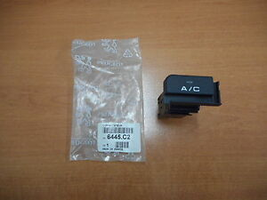 AIR CONDITIONING SWITCH PEUGEOT 405 1989-1993 6445C2