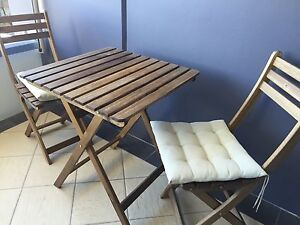 Foldable table and two chairs Caringbah Sutherland Area Preview