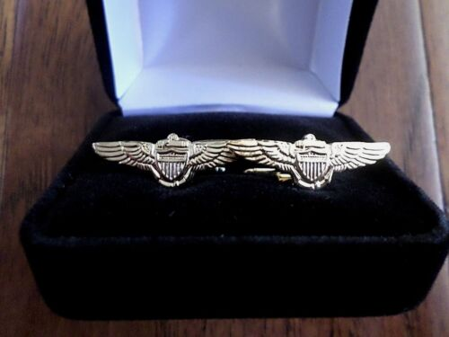 U.S MILITARY NAVY PILOT WINGS CUFFLINKS WITH JEWELRY BOX 1 SET CUFF LINKS BOXED