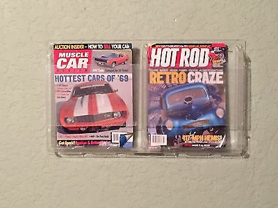 2 Pocket Display Rack Magazine Literature Pamphlet Wall Mount New